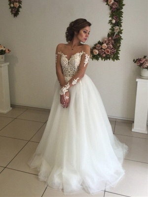 Robe de mariée princesse tulle chic avec dentelle | Robe de mariage princesse épaules nues_1