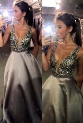 Forme princesse robe de soirée robe de bal col en V couleurs au choix_1