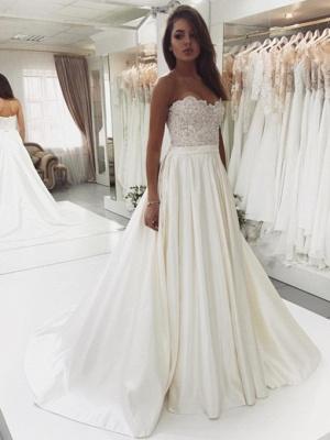 Robe de mariée princesse dentelle chic | Robe de mariage princesse sans bretelles_1