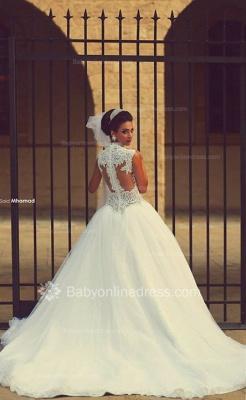 Forme Princesse Traîne moyenne Col en cœur Tulle 2020 Robes de mariée avec Dentelle_4
