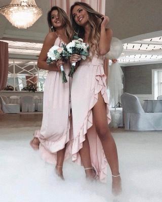 robe de demoiselle dhonneur 2020 robe de soirée asymétrique_2