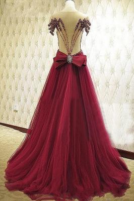 Forme musique robe de soirée élégante décolleté avec cristal longueur sol_3