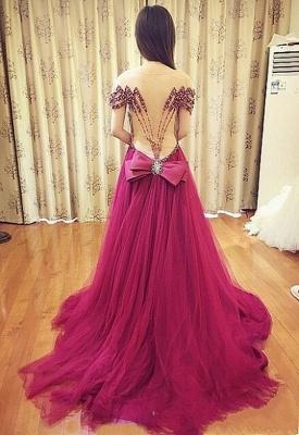 Forme musique robe de soirée élégante décolleté avec cristal longueur sol_5