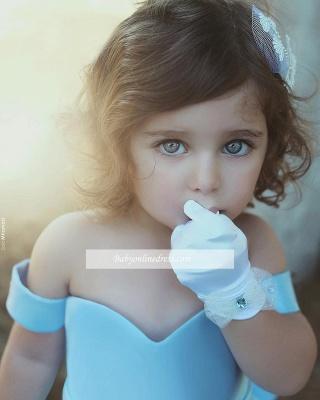 Forme Princesse Longueur ras du sol Epaules nues Satin Robe de soirée Pas cher_2