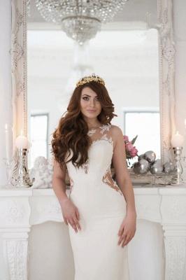 Forme fourreau robe de mariée en dentelle délicat dos nu transparente traine alayage_4