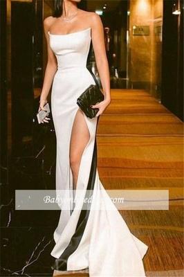 robe de soirée longue sirène bustier avec fente_2