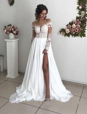 Robe de mariée princesse longue avec dentelle épaules nues | Robe de mariage longue_3