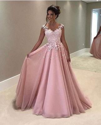 Forme princess robe de cérémonie en dentelle délicat longueur sol_1