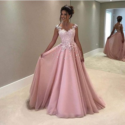 Forme princess robe de cérémonie en dentelle délicat longueur sol_2