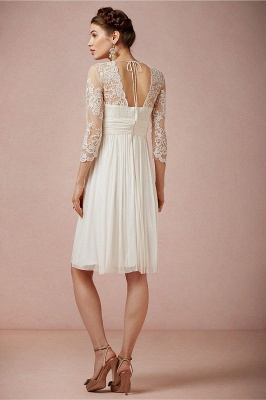 Robe dentelle robe de mariée robe mini mousseline polyester couleurs au choix_2