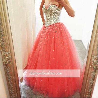 Robe de bal princesse tulle sublime | Robe de soirée princesse avec perles_3