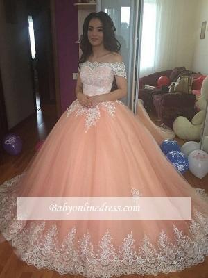 Robe de mariée princesse dentelle élégante | Robe de mariage trompette épaules nues_3