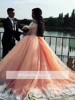 Robe de mariée princesse dentelle élégante | Robe de mariage trompette épaules nues_2
