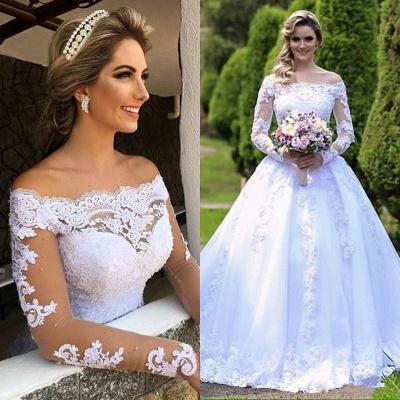 Forme Princesse alayage/Pinceau train Dentelle Robes de mariée 2021 avec Dentelle_5