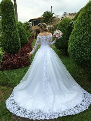 Forme Princesse alayage/Pinceau train Dentelle Robes de mariée 2021 avec Dentelle_4