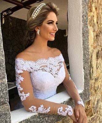 Forme Princesse alayage/Pinceau train Dentelle Robes de mariée 2021 avec Dentelle_3