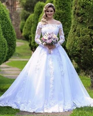Forme Princesse alayage/Pinceau train Dentelle Robes de mariée 2021 avec Dentelle_2