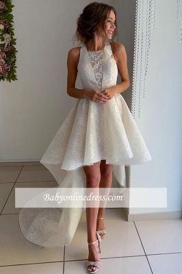 robe de mariée asymétrique en dentelle avec traîne_3