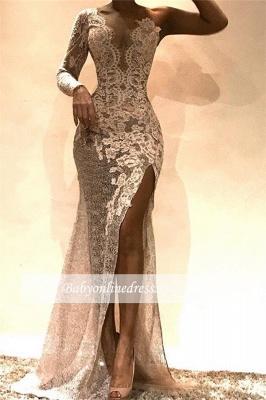 Robe de soirée sirène épaules asymétriques | Robe de cérémonie trompette brillante_1
