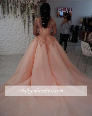 Forme Marquise Traîne mi-longue Col U profond Tulle Robes de mariée/gala avec Dentelle_3