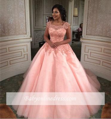 Forme Marquise Traîne mi-longue Col U profond Tulle Robes de mariée/gala avec Dentelle_7