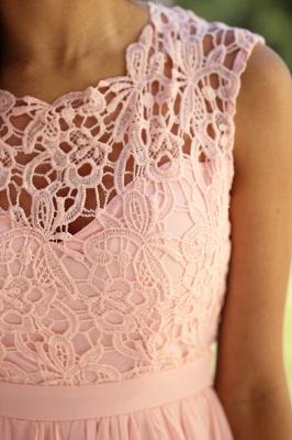 Forme A-line robe de cérémonie en dentelle délicat mousseline polyester longueur sol couleurs au choix_9