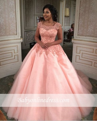 Forme Marquise Traîne mi-longue Col U profond Tulle Robes de mariée/gala avec Dentelle_2