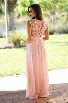 Forme A-line robe de cérémonie en dentelle délicat mousseline polyester longueur sol couleurs au choix_8