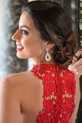Classique robe de soirée court/mini en dentelle délicat et tulle couleurs au choix_4