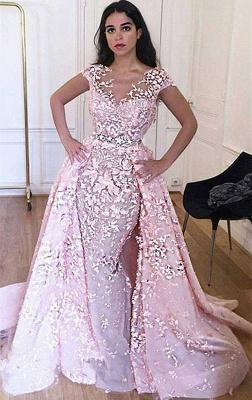 Robe de mariage robe de cérémonie haute qualité dentelle col en V dos nu_1