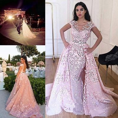 Robe de mariage robe de cérémonie haute qualité dentelle col en V dos nu_2