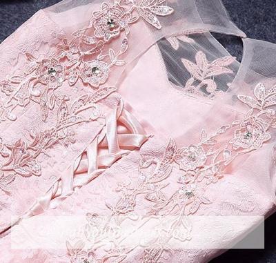 Robe de soirée princesse courte dentelle chic   Robe de cocktail princesse sans manches_2
