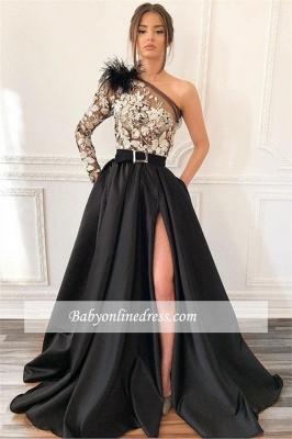 Robe de bal princesse épaules asymétriques   Robe de soirée princesse avec appliques_1