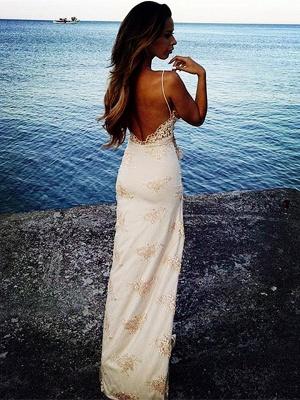 Robe d'été robe de soirée sexy bretelle fine broderie délicat fendu devant d'une côté_2