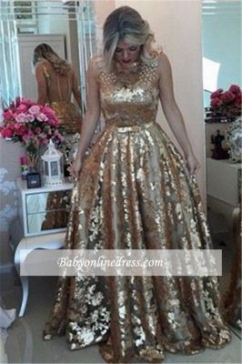 Robe de bal princesse pailletée brillante | Robe de soirée princesse avec perles_2