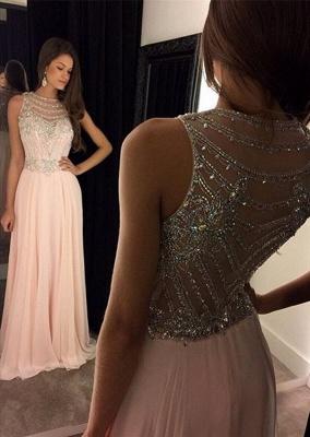 Forme Princesse Col en cœur Mousseline polyester alayage/Pinceau train Robes de soirée avec Cristal_1