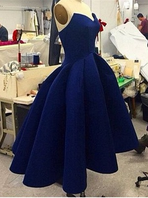 Forme Princesse Traîne asymétrique Col en cœur Robes de bal_4