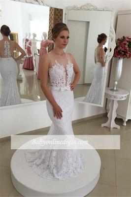 Robe de mariée sirène dentelle chic | Robe de mariage trompette sans manches_2