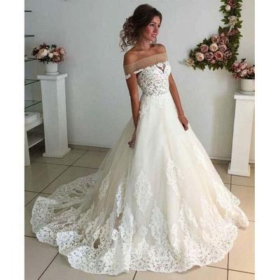 Robe de mariée princesse en tulle avec dentelle longue | robe de mariage élégante_3