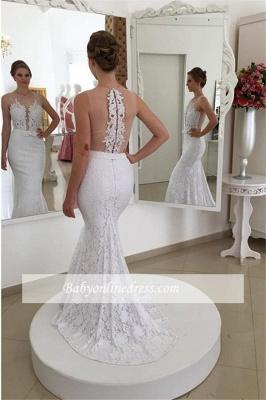 Robe de mariée sirène dentelle chic | Robe de mariage trompette sans manches_1