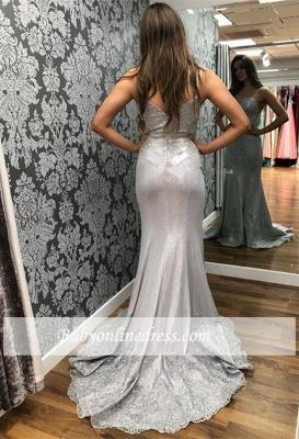 robe de soirée longue Sirène en Appliques dentelles_1