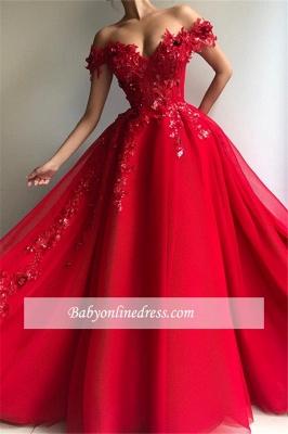 Robe de bal princesse élégante avec appliques | Robe de soirée princesse longue chic épaules nues_2