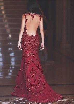 Forme Sirène/Trompette Traîne moyenne Col en V Robes de bal robe de fête pailleté_2