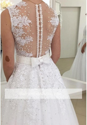 Robe de mariée princesse col en V | Robe de mariage princesse avec perles_2