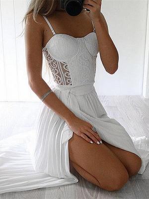Robe d'été robe plage bretelle fine dentelle délicat fendu devant longueur sol couleurs au choix_1