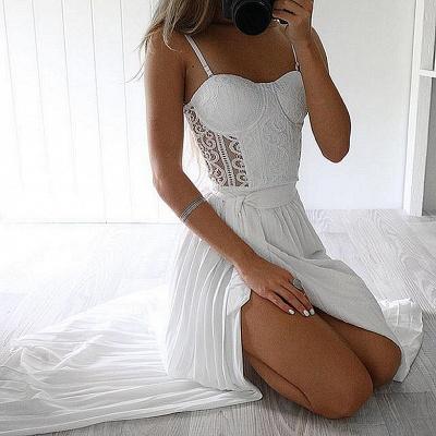 Robe d'été robe plage bretelle fine dentelle délicat fendu devant longueur sol couleurs au choix_4
