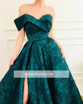 Robe de bal princesse chic avec motif | Robe de soirée princesse épaules nues_2