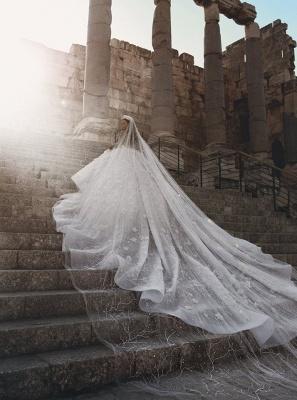 Robe de mariée princesse avec fleurs longue élégante luxueuse | robe de mariage élégante de luxe WD0911_5