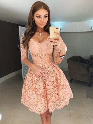 robe de soirée courte | robe dentelle pas cher_1