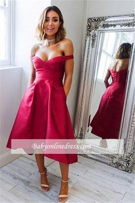 Robe de soirée princesse courte chic | Robe de cocktail princesse épaules nues_1